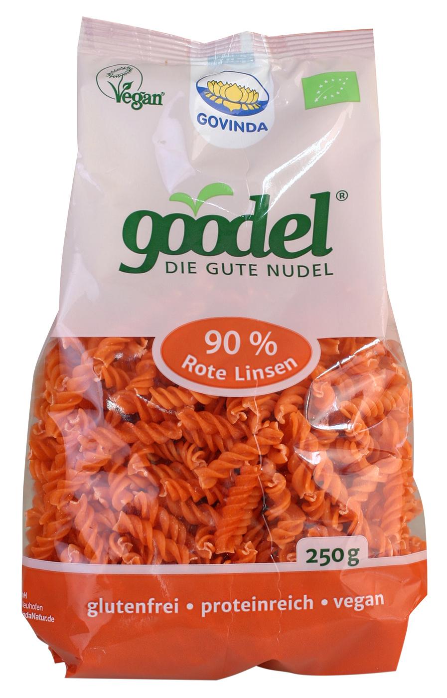Bio Goodel - Die gute Nudel Rote Linsen, 250 g