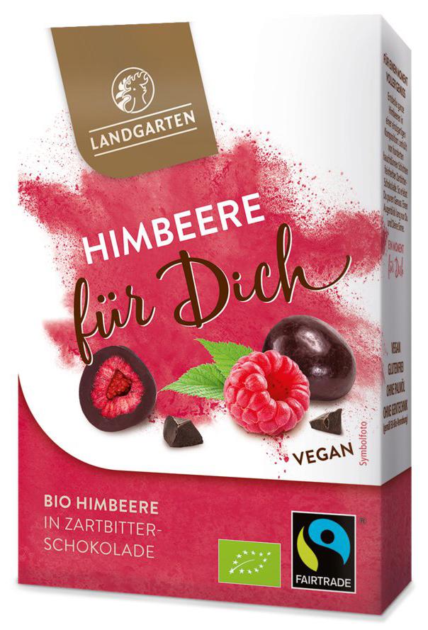 """Bio Himbeere in Zartbitter-Schokolade """"Himbeere für Dich"""", 90 g"""