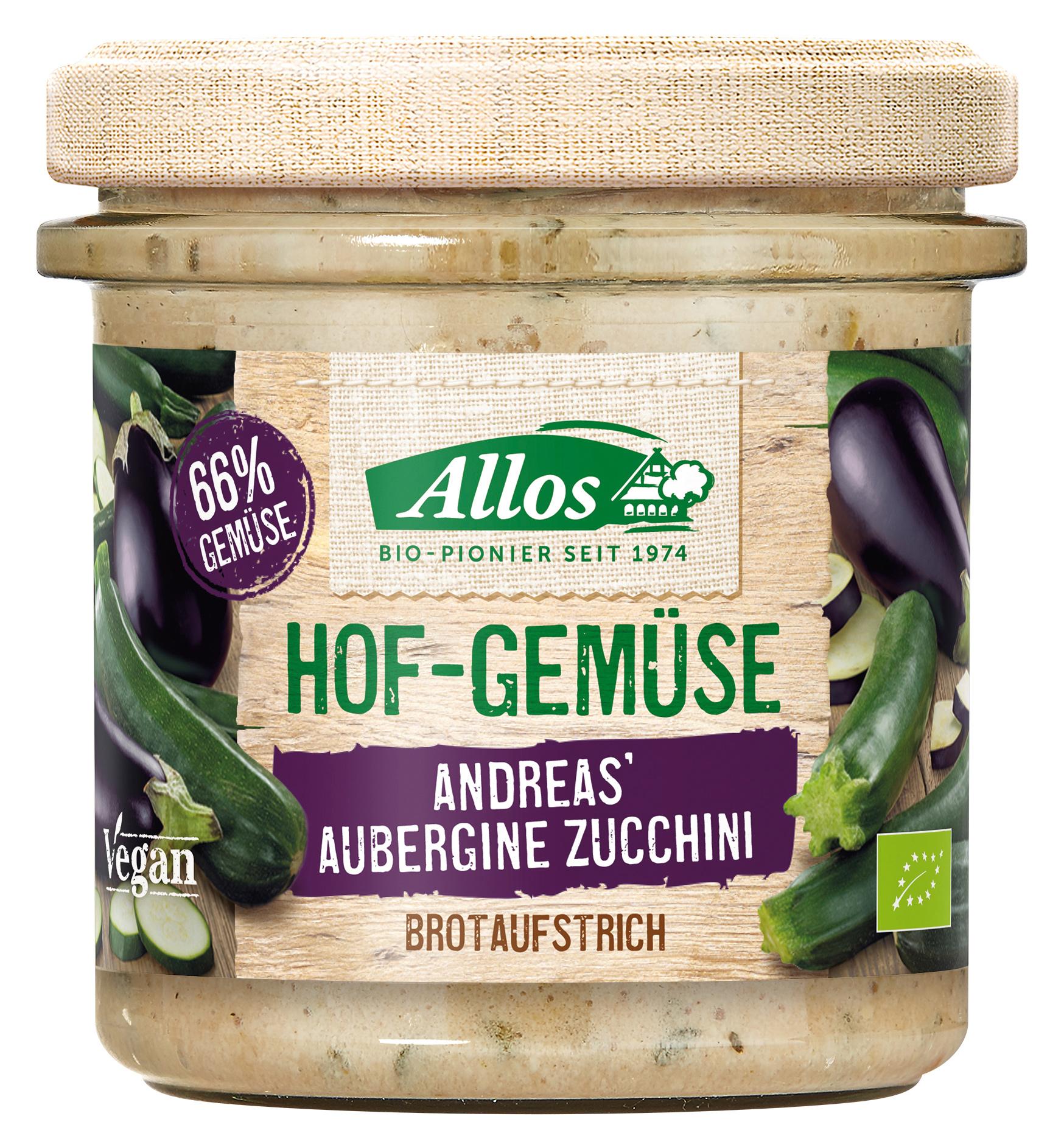 "Bio Brotaufstrich ""Andreas' Aubergine Zucchini"", 135 g"