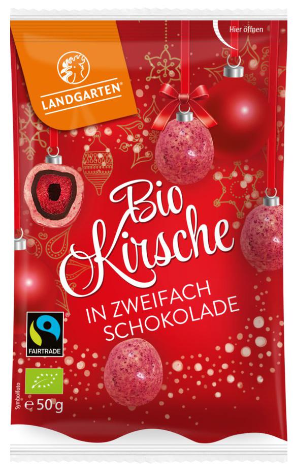 Bio Kirsche in zweifach Schokolade, 50 g