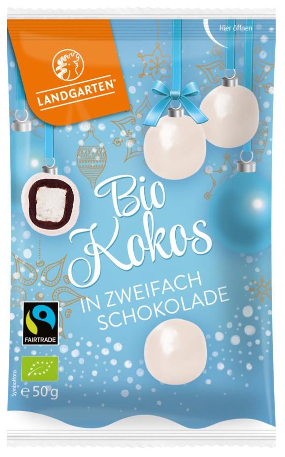 Bio Kokos in zweifach Schokolade, 50 g