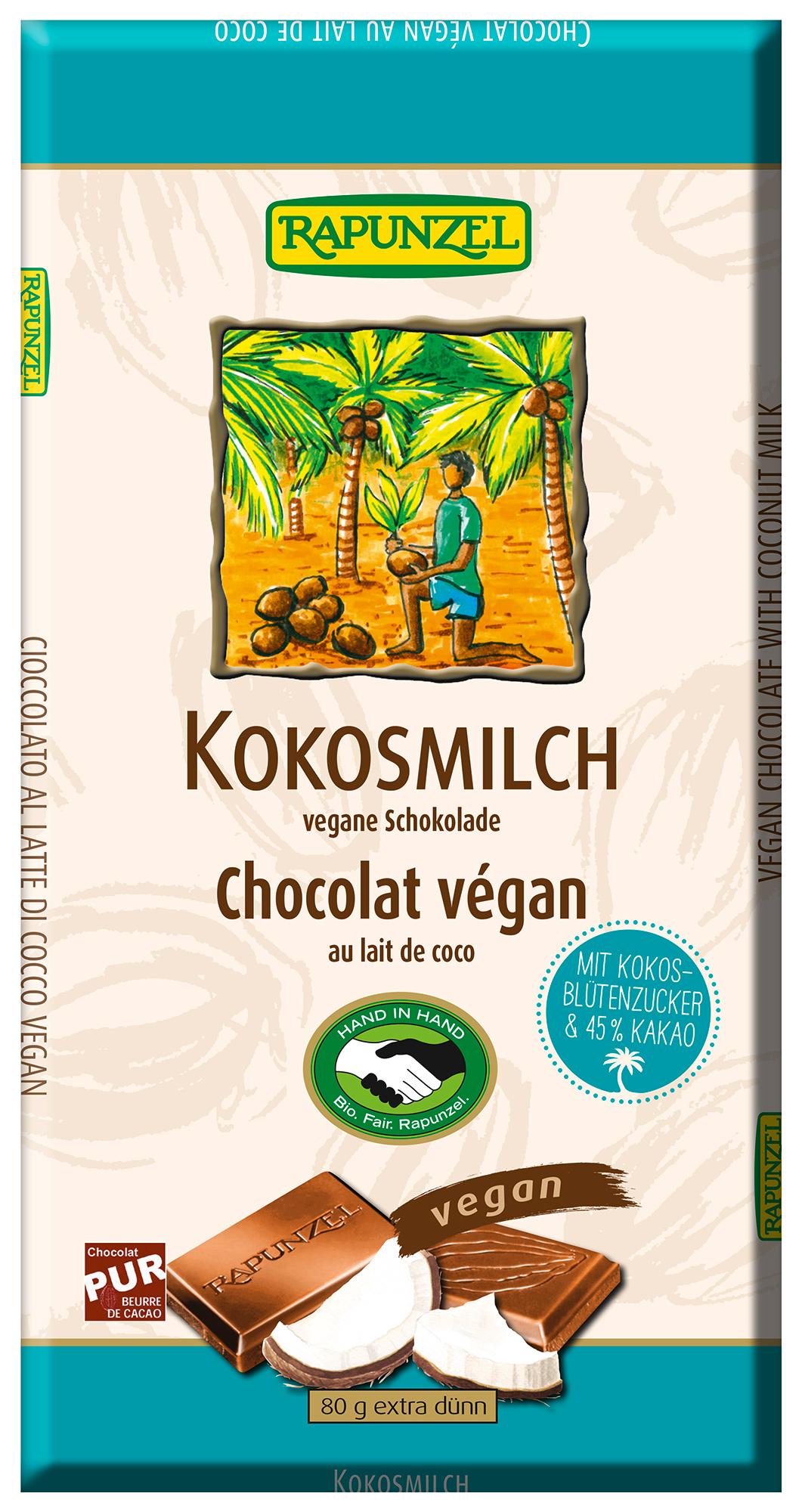 Bio Kokosmilch Schokolade, 80 g