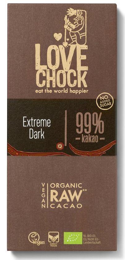 Bio Lovechock Tafel Extreme Dark 99%, 70 g