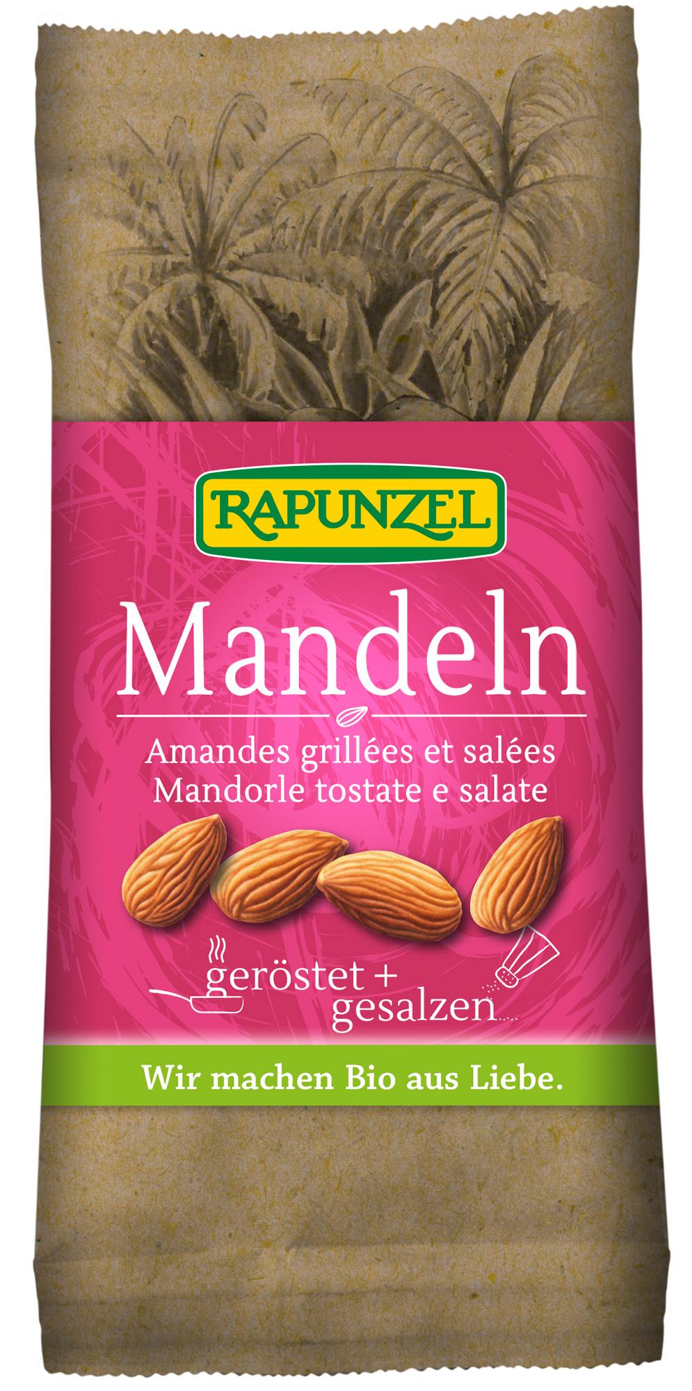 Bio Mandeln, geröstet + gesalzen, 60 g