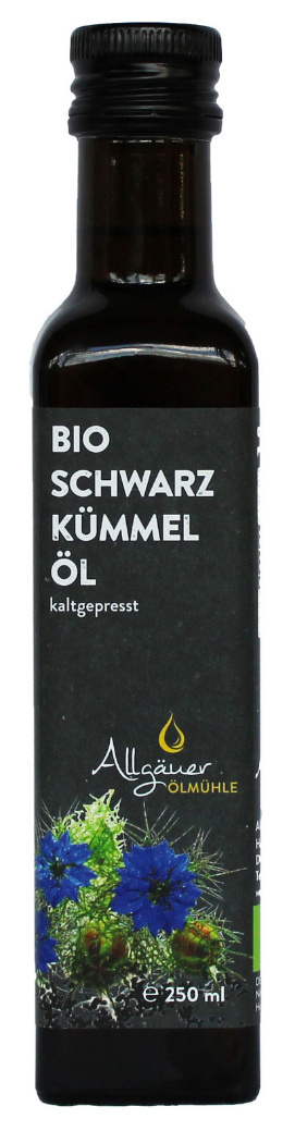 Bio Schwarzkümmelöl, kaltgepresst, 250 ml