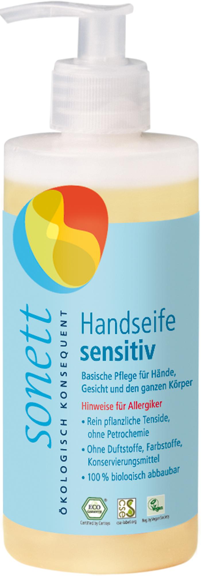 Handseife sensitiv, Spender, 300 ml